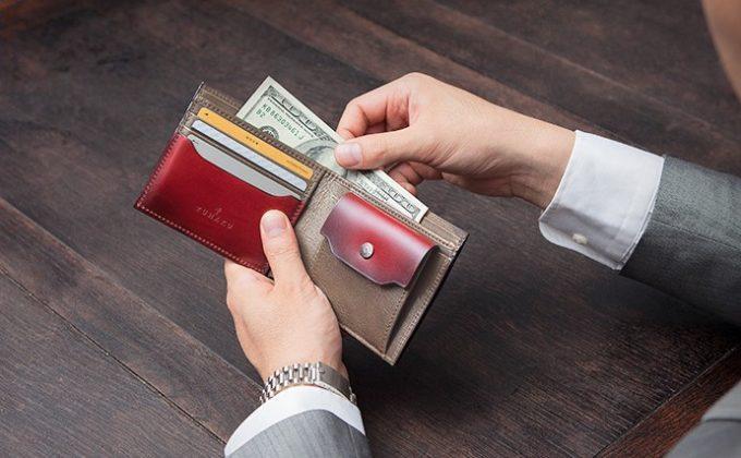 YUHAKU(ユハク)コードバン二つ折り財布札入れ