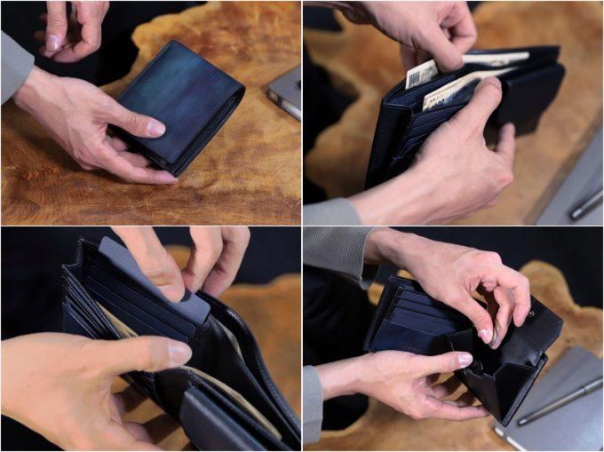 YPM137二つ折り財布の各部