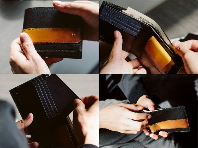 YAL132二つ折り財布の各部