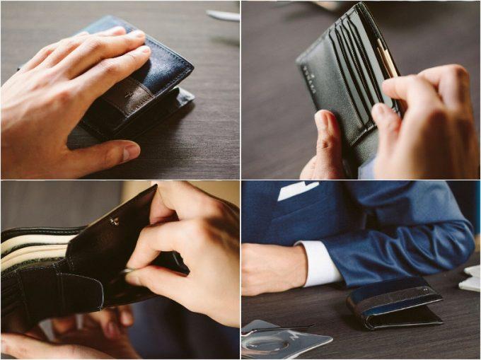 YCD132二つ折り財布の各部
