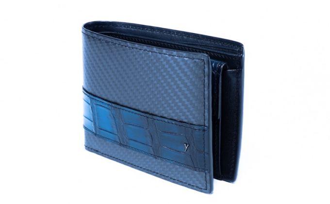 YCR132クロコダイルコンビ二つ折り財布