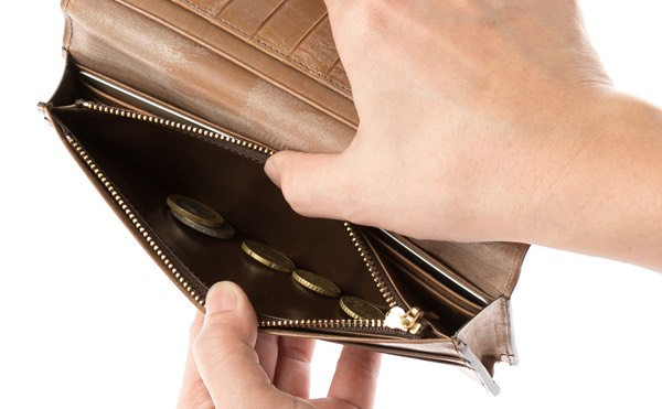 大きく開いて取り出しやすい小銭入れ