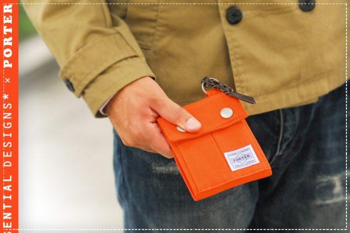 ポーターカラーキャンバス折財布