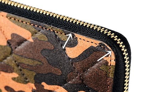 財布のコバ部分