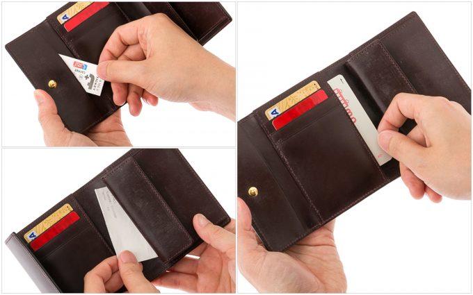 ロベルトパースのカードポケットと隠しポケット