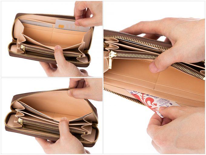 マックスラージのカードポケットとフリーポケット