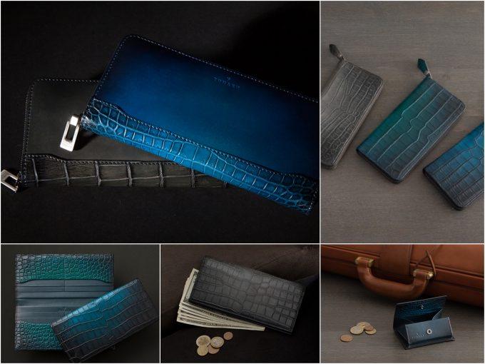 YUHAKUクロコダイル革の財布各種類