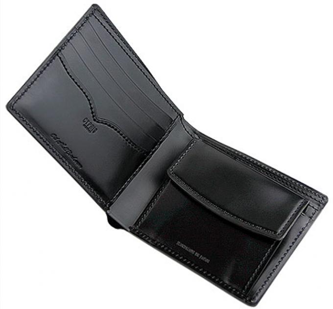 コードバンの財布の内装