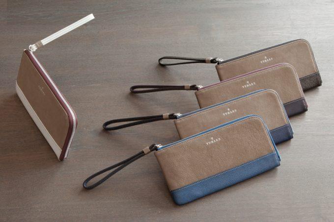 L字ファスナー長財布を並べた写真