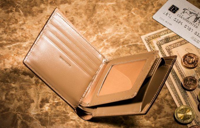 カードポケットとパスケースが見える内装部