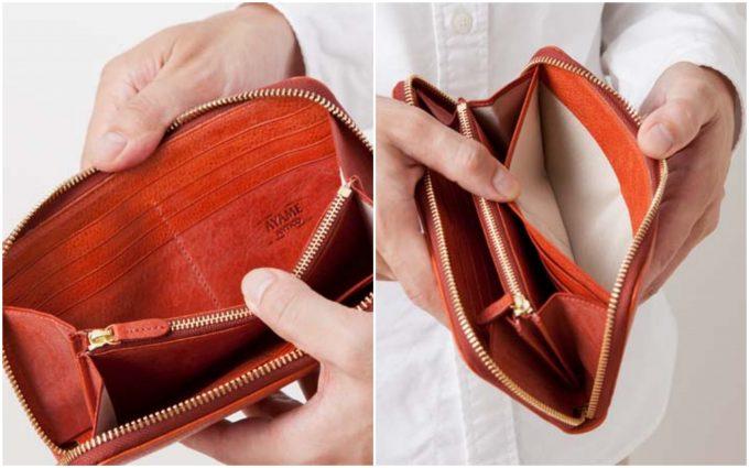 ポンティチェッロのカードポケットとオープンポケット