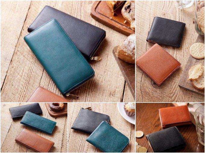 ミネルバボックス&ヌバックシリーズの各タイプの財布