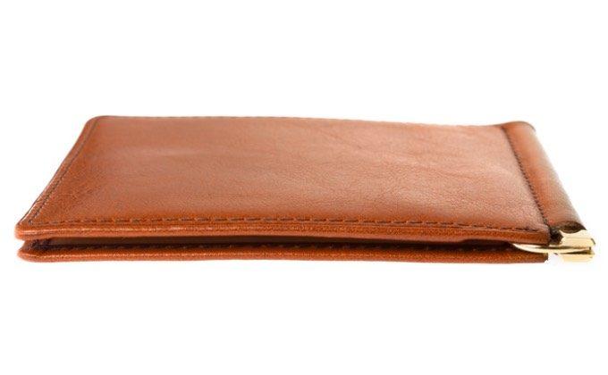 厚さ7mmの薄いマネークリップ