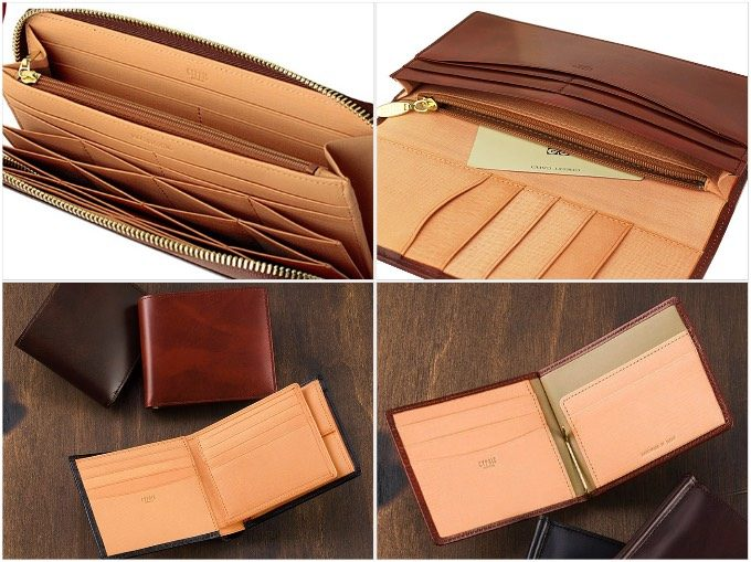 シラサギレザーシリーズの財布各種