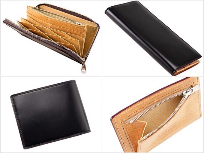 オイルシェルコードバン&ヴァケッタレザーシリーズの財布各種