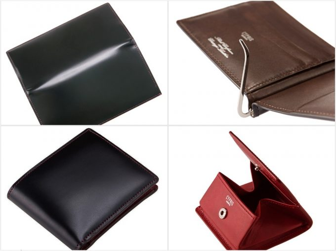 オイルシェルコードバン&シラサギレザーシリーズの財布各種
