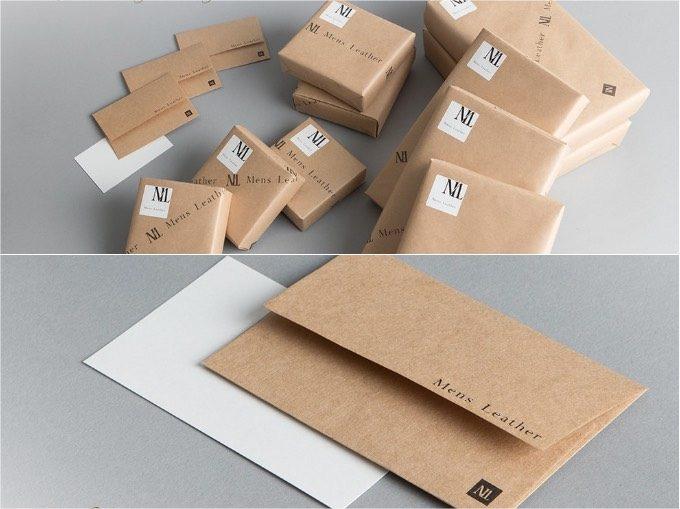 Mens Leather Storeのプレゼントラッピングとメッセージカードと封筒