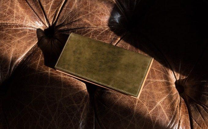 無二のコードバン長財布(小銭入れなし)