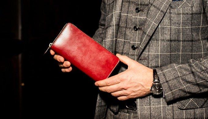 派手なレッド!ココマイスターの赤い高級革財布の紹介!