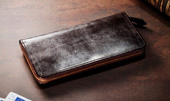ジョージブライドルの財布(ボルドーワイン)