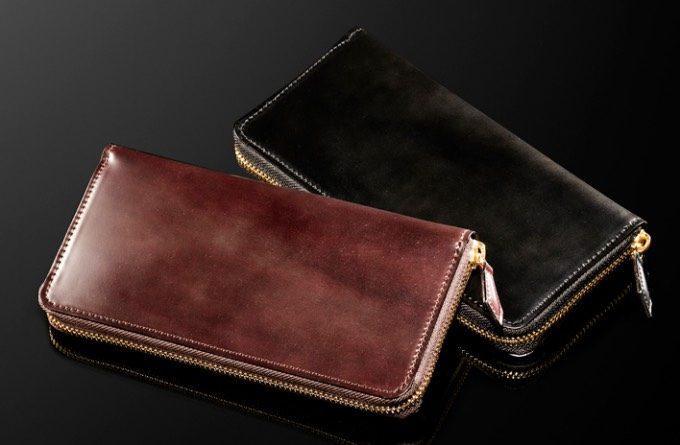 シェルコードバンの財布(ボルドーワイン)
