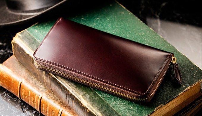 マイスターコードバンの財布(ボルドーワイン)