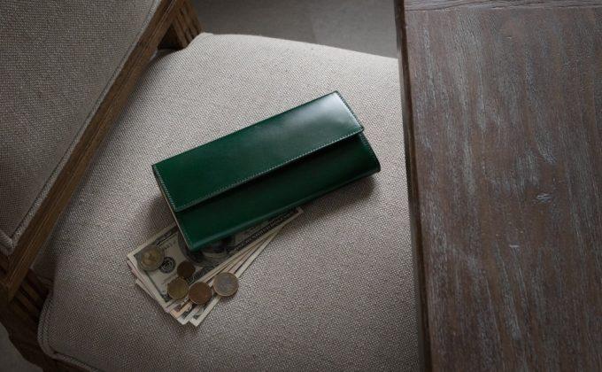 アニリン染めコードバンカブセ長財布