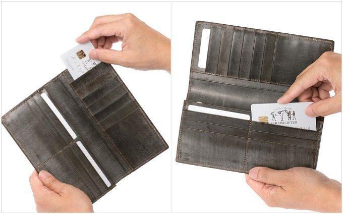 ワイルドビショップのカードポケットとフリーポケット