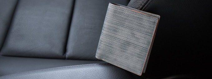 アツシヤマモトの刷毛塗りの革財布