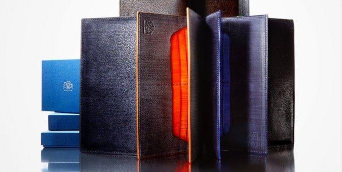 メンズレザーストアのアツシヤマモトの刷毛塗り財布