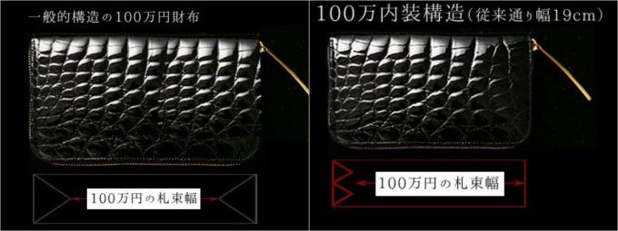 ミリオンウォレットの構造と一般的な構造の比較