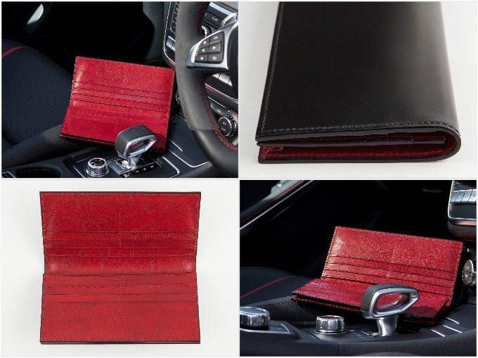 無二のコードバン長財布の写真