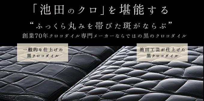 他社ブランドと池田のクロコダイルの比較