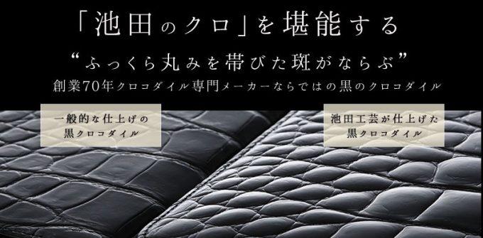 池田と他ブランドのクロコダイル比較