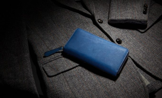 ジャパンブルーの財布