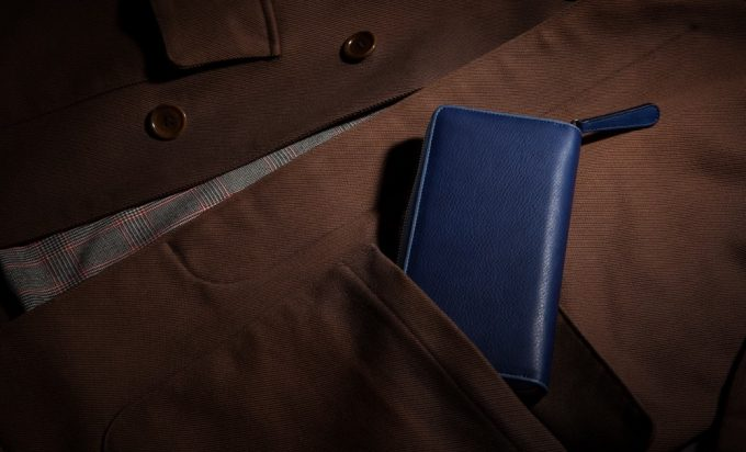 Bluestone(ブルーストーン)のスクモレザーラウンジップ長財布