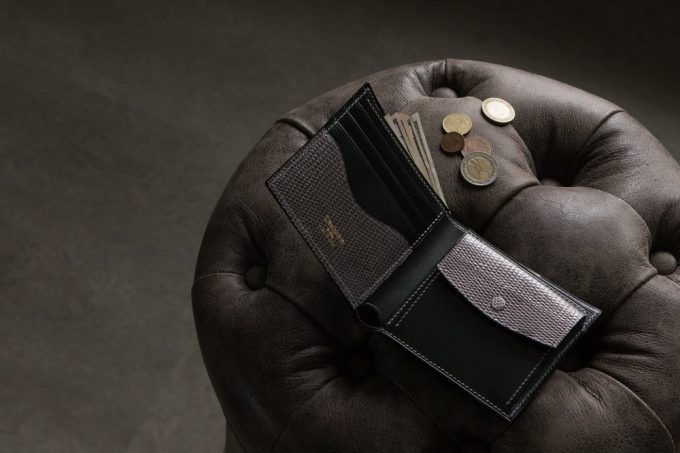 ブリランテ×リザード二つ折り財布
