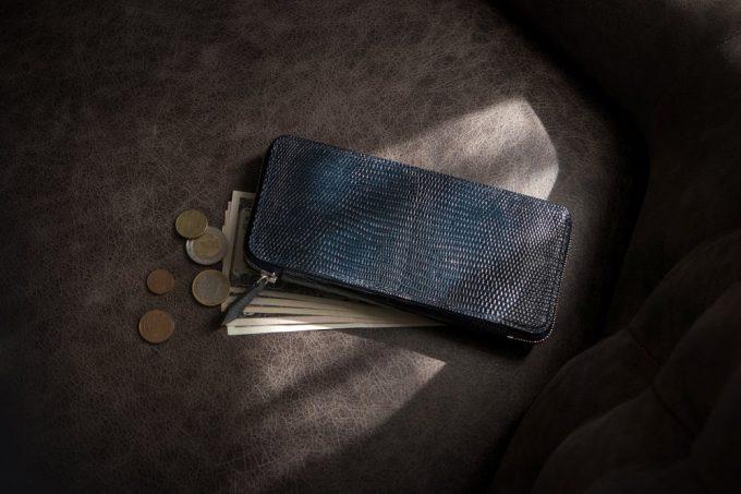 リザードラウンドジップ長財布