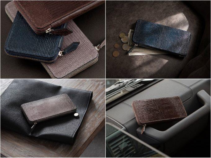 リザードラウンドジップ長財布の写真