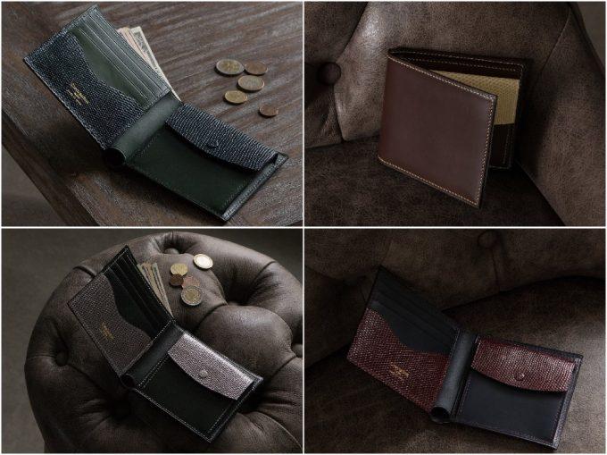 ブリランテ×リザード二つ折り財布の色々な写真