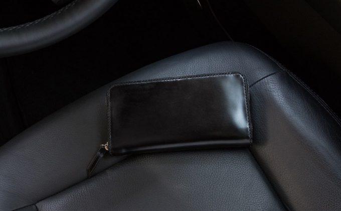 無二コードバンラウンドジップ(ファスナー)長財布