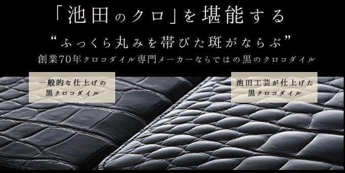 池田の高級クロコダイル革ポロサス