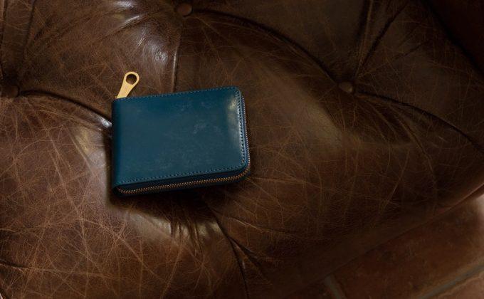 チマブエ製ブライドルラウンドジップ二つ折り財布
