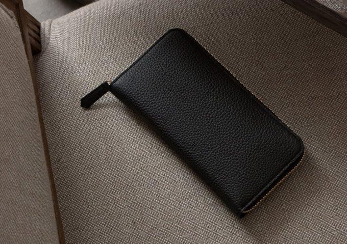 型崩れしにくいシュランケンカーフの長財布