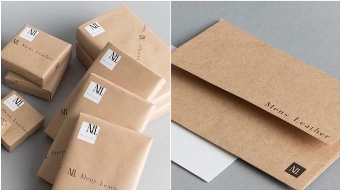 メンズレザーストアの無料プレゼントラッピングとメッセージカード