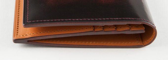 FESON(フェソン)アドバン長財布のコバ部