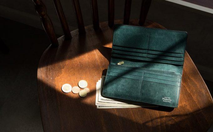 プエブロ長財布を開いた時