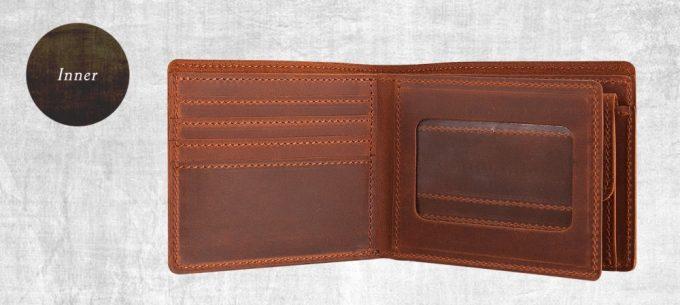 クレイジーヌバック二つ折り財布のパスケース