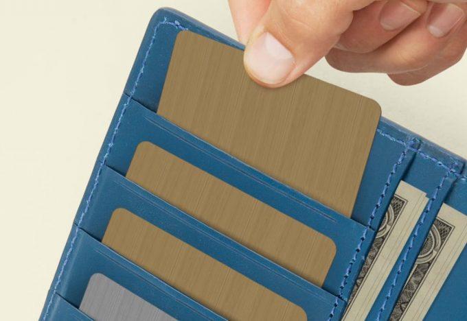ブライドル長財布のカードポケット