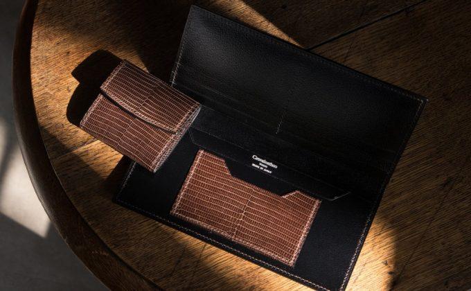 Lizard(リザード)長財布の内装リザード仕様カードポケット